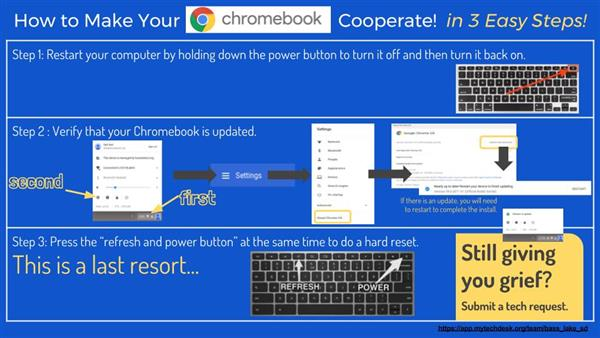 3 step chromebook troubleshooting